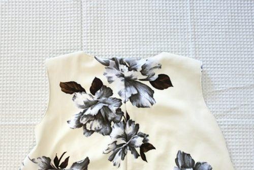 花柄フレアワンピースの作り方