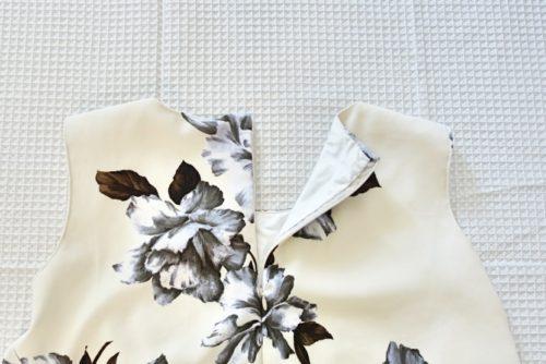 花柄フレアワンピースの作り方2