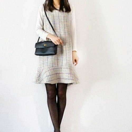 裾フリルのジャンパースカート作りました