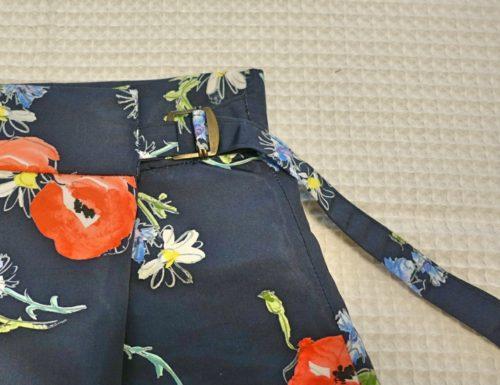 花柄のラップ風スカートの作り方