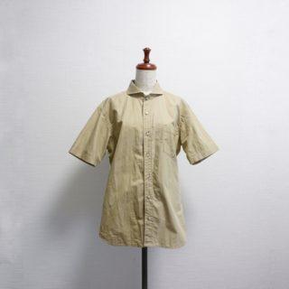 「男のシャツの本」よりホリゾンタルカラーのメンズシャツ作りました