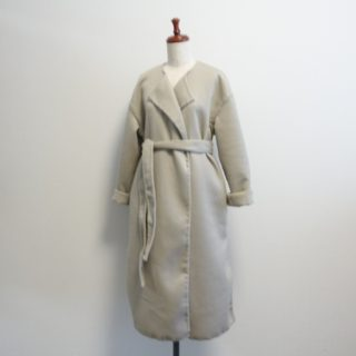 かたやまゆうこさん「コートを縫おう」よりダブルフェイスのコート作りました