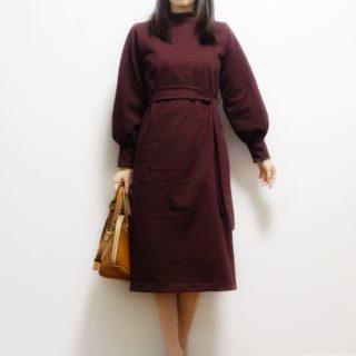伊藤みちよ「今日の大人服」ボリューム袖のカットソーよりワンピース作りました