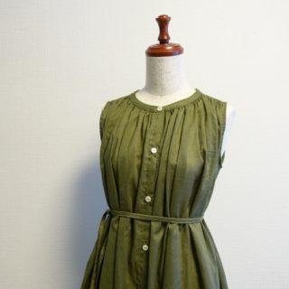 美濃羽まゆみさん「毎日着たい、手づくり服」より肩ギャザーのワンピース作りました