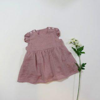 インナー付きワンピース作りました!スタイリスト佐藤かなが作る赤ちゃんのための服と小物より