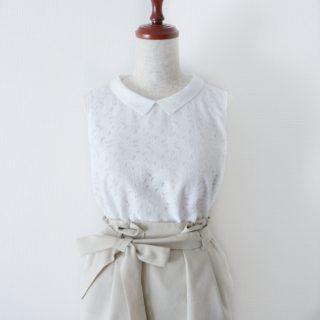 白衿のレースブラウス作りました♡衿の製図は誌上・パターン塾が便利。