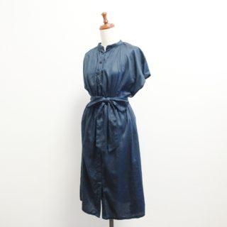 「明日着る服」よりスタンドカラーのワンピース作りました