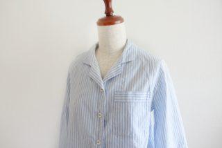 誌上・パターン塾トップス編より開襟シャツのパジャマ作りました