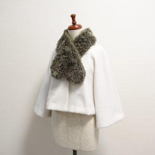 笹原のりこさん「さり気なく甘い服」よりショートコート作りました