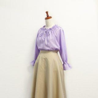 フリルカラーの春ブラウスができました♡香田あおいさん「きれいな服」より。
