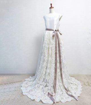 ウェディングドレスを手作りしました!型紙・作り方・工程まとめ。