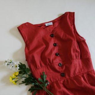 真っ赤なサマードレスができました