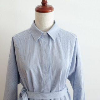 永く楽しむシャツ(福川登紀子さん)よりシャツワンピース作りました