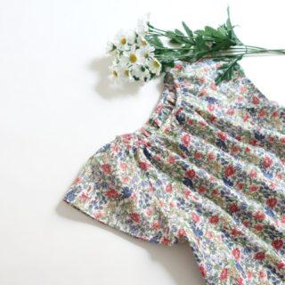 小さな子どもの手づくり服よりラグランスリーブワンピース作りました